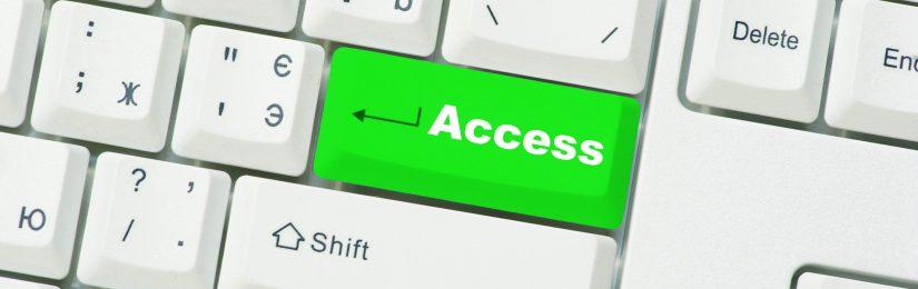 """Tastaturausschnitt mit Beschriftung """"Access"""" auf grün eingefärbter Enter-Taste"""